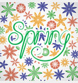 lettering spring vector image