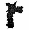 map of sao paulo city vector image vector image