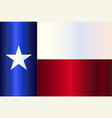 metal texas state flag vector image vector image