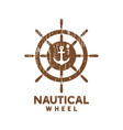 nautical wheel logo icon design template vector image vector image