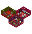 people in casino isometric concept vector image vector image