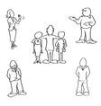 people standing vector image vector image