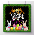 poster for happy easter 8 vector image vector image