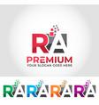 ra alphabet logo design concept