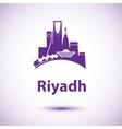 Riyadh skyline Greatest landmarks as vector image