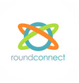 round connect logo vector image vector image