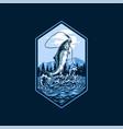 salmon fishing vector image