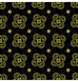 Seamless pattern blue and yellow vector image vector image