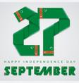september 27 turkmenistan independence day vector image vector image