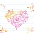 Sketchy Doodle Heart vector image vector image