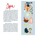 spa services promotional banner with beauty means vector image vector image