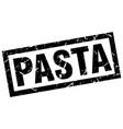 square grunge black pasta stamp vector image vector image