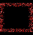 square made of red and pink hearts vector image vector image