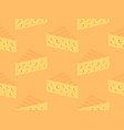 triangular piece of cheese seamless pattern vector image vector image