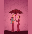 valentines day cards with hearts woman and man vector image vector image