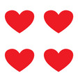 valentines day red hearts symbol or icon vector image