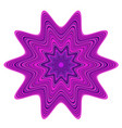 violet and purple abstract star vector image vector image