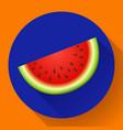 watermelon icon vector image vector image