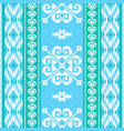 winter pattern in ethnic style vector image vector image