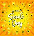 world smile day beam yellow banner vector image
