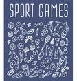 Sport hand drawn seamless logo vector image