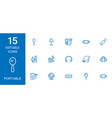 15 portable icons vector image vector image
