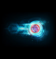 abstract data security concept and futuristic vector image vector image