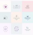 abstract feminine signs symbols or logo vector image vector image