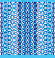 abstract geometric blue striped carpet border vector image vector image