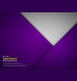 abstract of paper cut gradient violet color vector image vector image