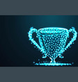 abstract trophy champion abstract 3d polygonal vector image vector image