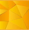 abstract yellow gold background lowpoly vector image