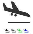 Aiplane landing flat icon