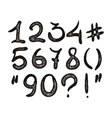 alphabet Hand drawn digits vector image