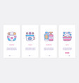 baby care hygiene items ux ui onboarding mobile vector image