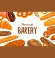 banner for pastry and bakery food and nutrition vector image vector image