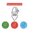 Beard and santa hat icon