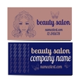 beauty salon banners visit cards with abstract vector image vector image