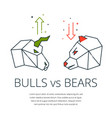 bull and bear vector image