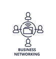 business networking line icon concept business vector image vector image