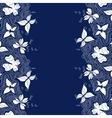 Butterflies Lines Border vector image vector image