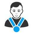 champion flat icon vector image vector image