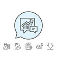 chart line icon report graph in speech bubble