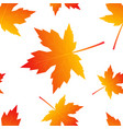 colorful leaves in flat style seamless pattern vector image
