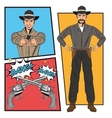 Cowboy comic bubble cartoon design vector image