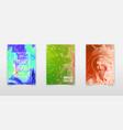 creative trendy cards set wavy stripes glitch vector image