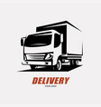 delivery and shipping service logo template vector image vector image