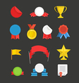 Different events flat icons set vector image vector image