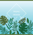 exotic leaves background vector image