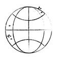 figure network global connection digital vector image vector image